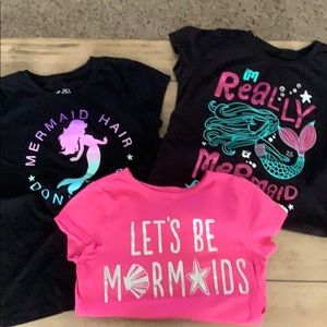 Lot of mermaid T-shirt's -EUC!